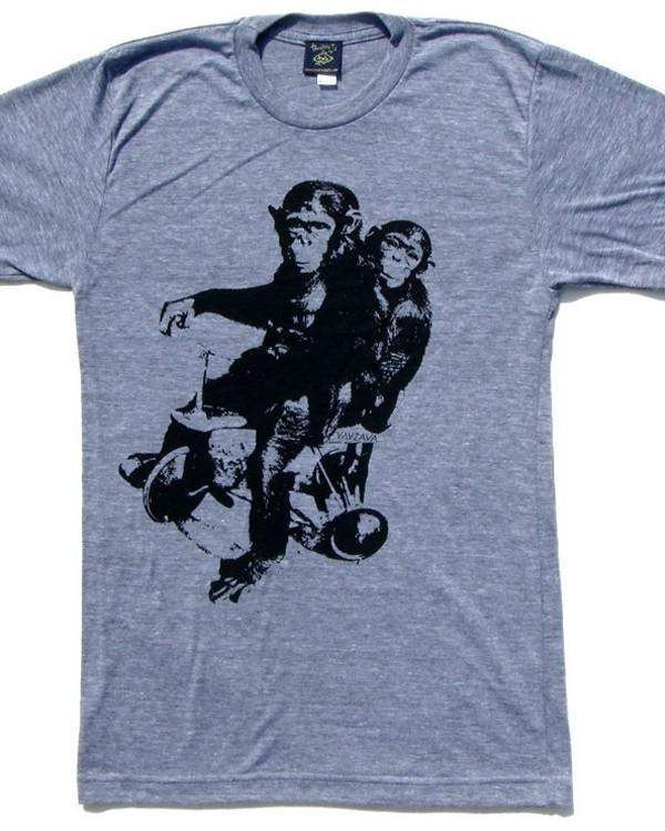 Monkeys on Bikes T-shirt-tshirts-Necklush