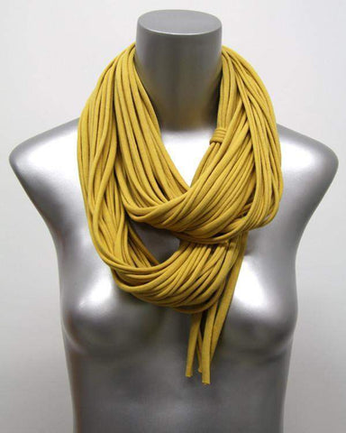 Mustard Yellow Chunky Scarf-scarves-Necklush