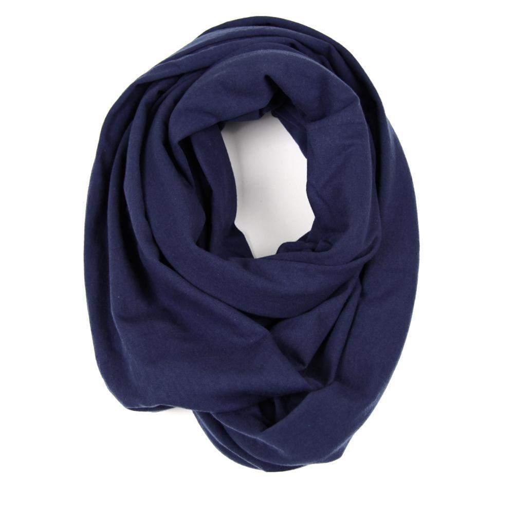 Navy Blue Circle Scarf-scarves-Necklush