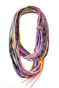 Necklush Infinity Scarf - Pop Fantastic Neon with Geometric  - Womens - Mens - Cotton