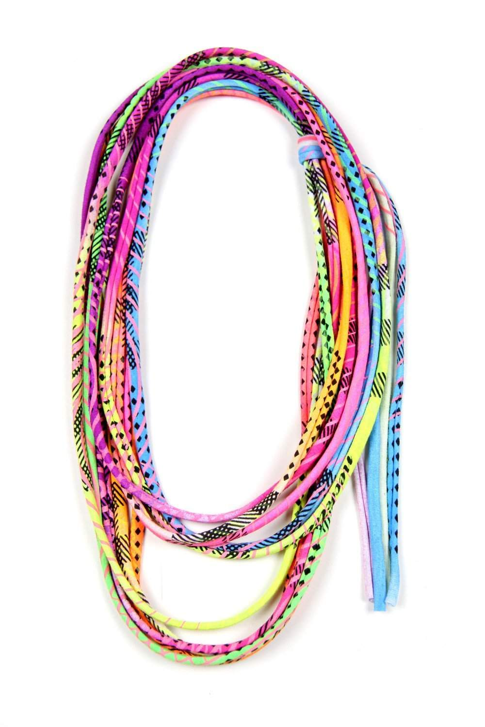 Neon Multi/Print / Skinny Scarf Necklace