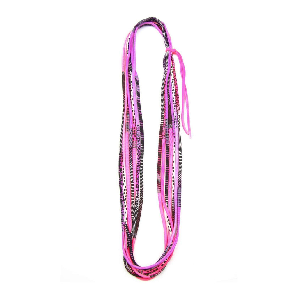 Neon Pink Purple Necklace