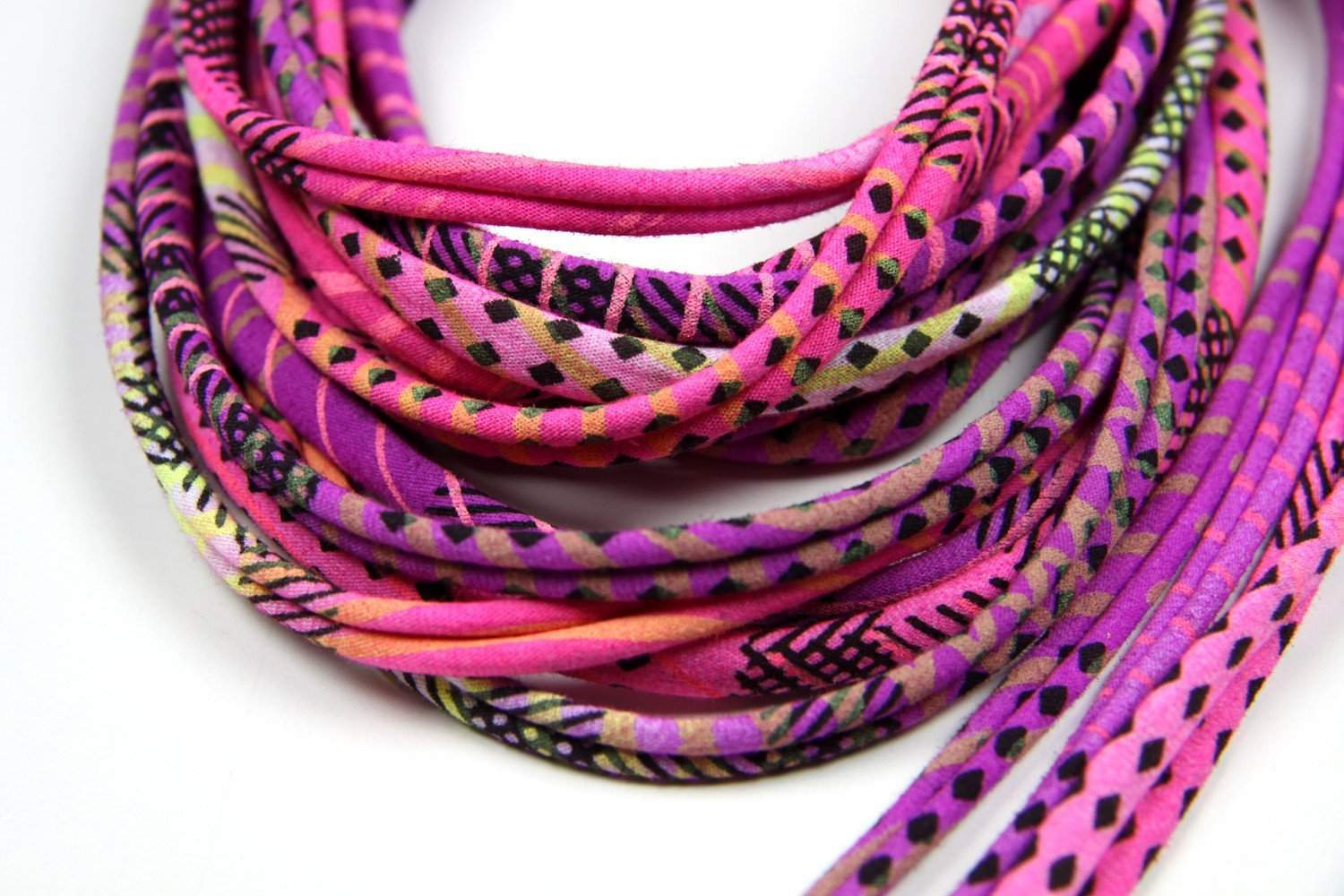 Neon Purple / Skinny Scarf Necklace-scarves-Necklush