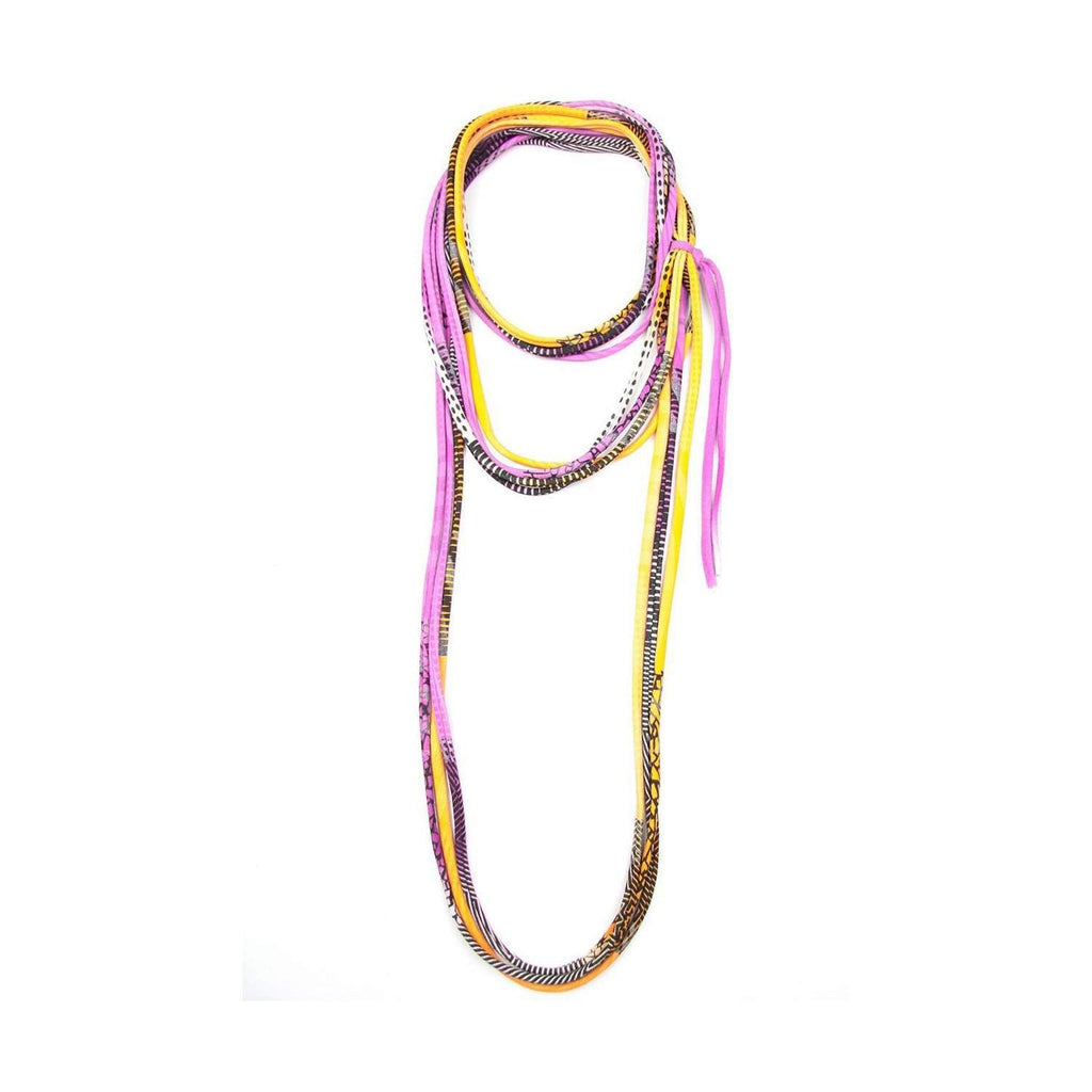 Neon Purple Yellow Necklace