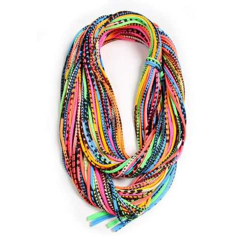 Neon Chunky Scarf-scarves-Necklush