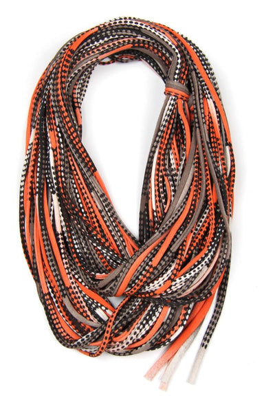 Orange Black Chunky Scarf-scarves-Necklush