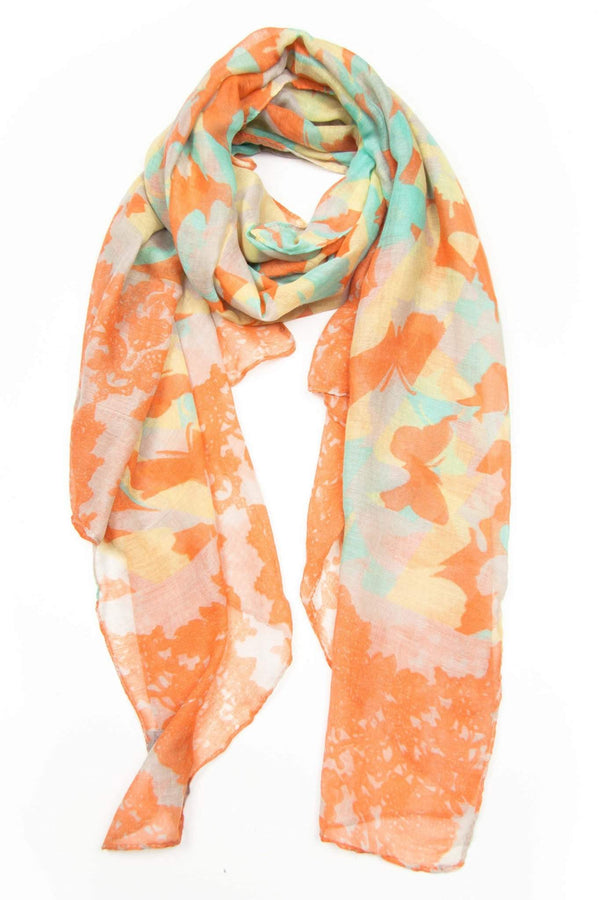 Orange Mint Yellow Scarf-scarves-Necklush