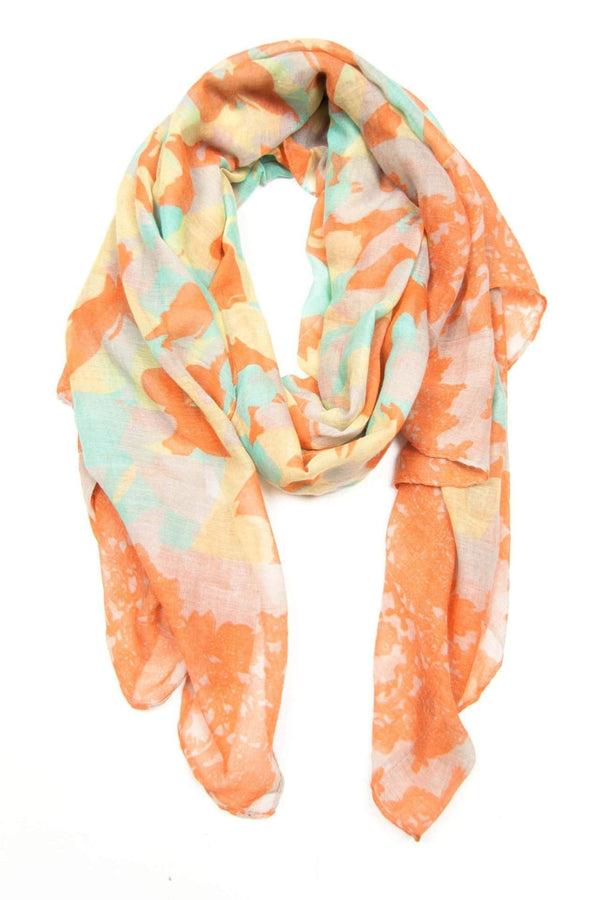 Orange Mint Yellow Scarf