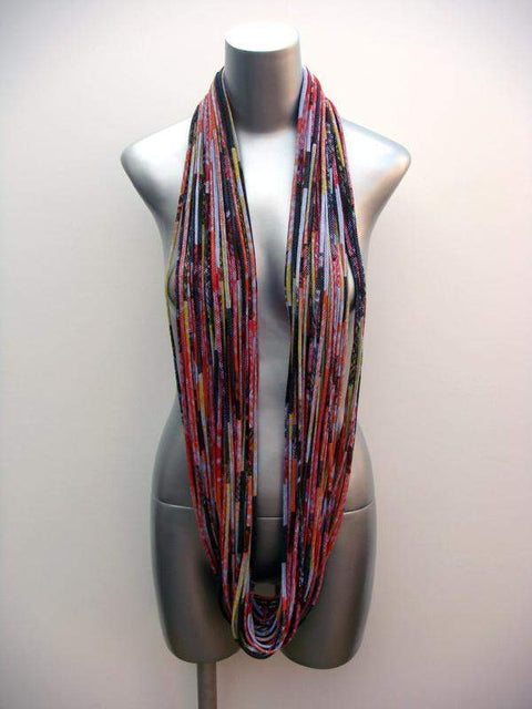 Orange Red Tones Chunky Scarf-scarves-Necklush