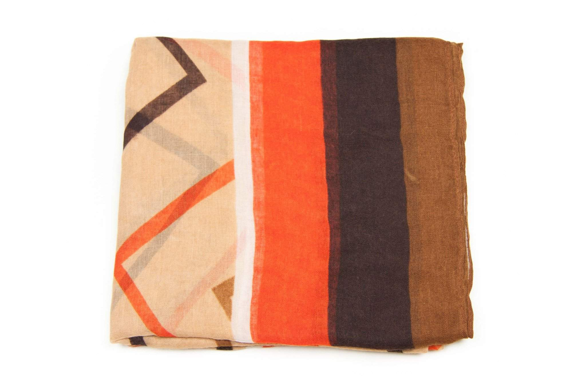 Orange Tan Brown Circle Scarf-scarves-Necklush