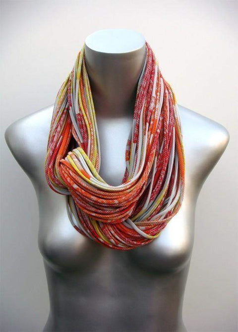Orange Yellow Chunky Scarf-scarves-Necklush
