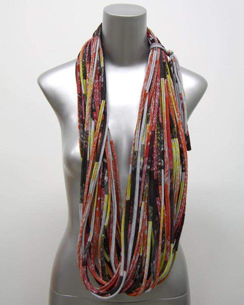 Oranges, Reds, Browns / Cowl-scarves-Necklush