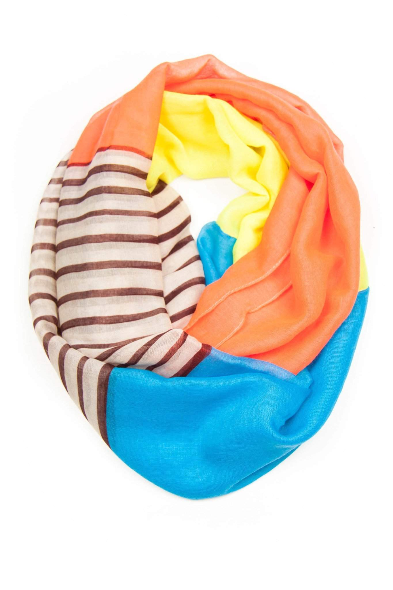 Pink Blue Infinity Scarf-scarves-Necklush
