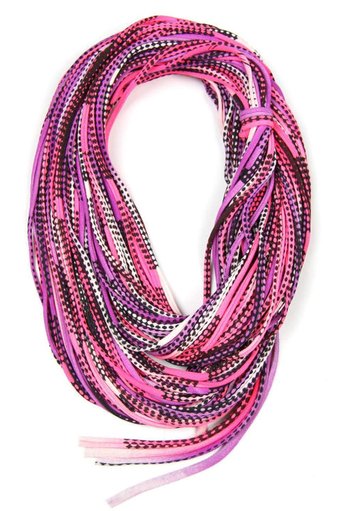 Pink Purple Black Chunky Scarf-scarves-Necklush