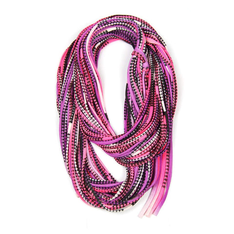 Pink Purple Black Chunky Scarf