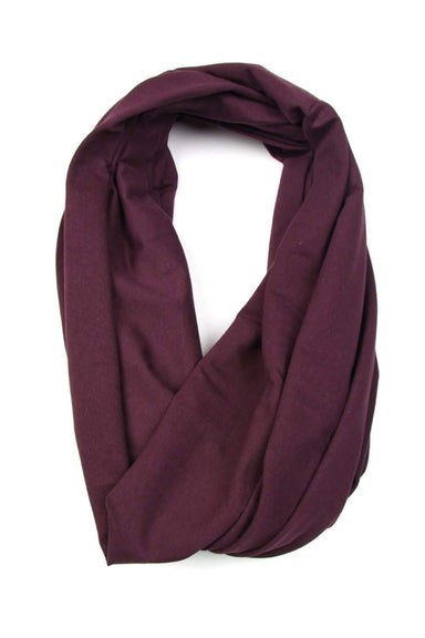 Plum Purple Circle Scarf-scarves-Necklush