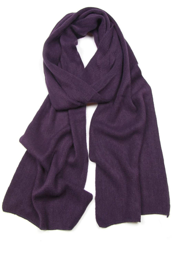 Plum Purple Scarf, Womens, Mens, Winter, Large, Acrylic-scarves-Necklush