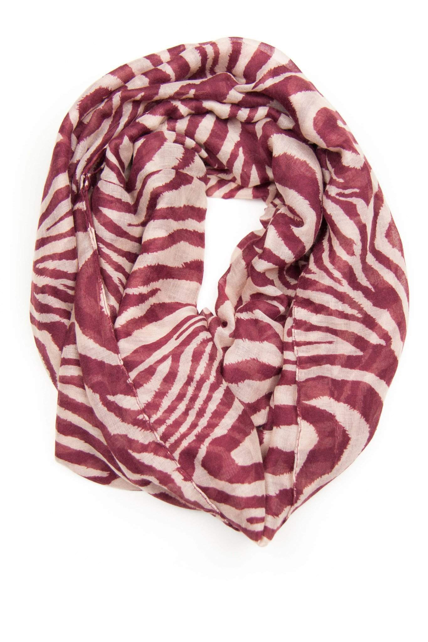 Purple Cream Infinity Scarf-scarves-Necklush