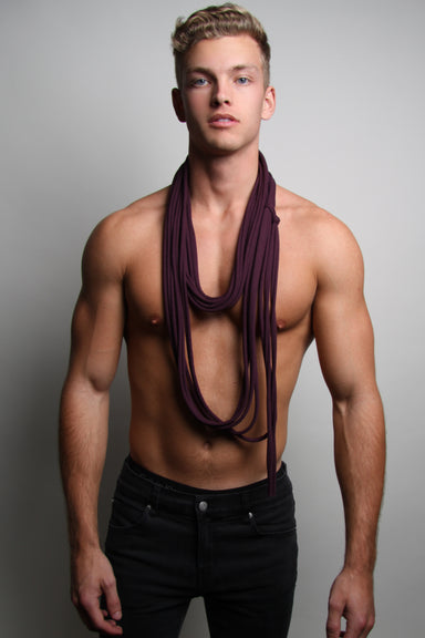 Purple Long Scarf Necklush