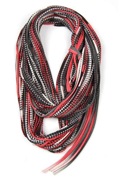 Red Black Chunky Scarf-scarves-Necklush