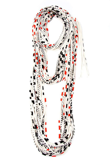 Red Black Stripes Chunky Scarf-scarves-Necklush