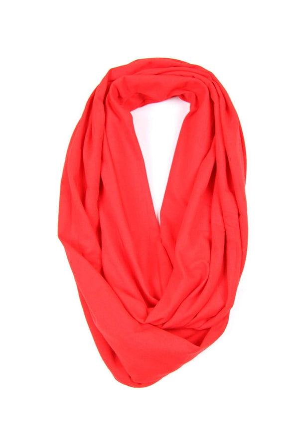 Red Circle Scarf-scarves-Necklush