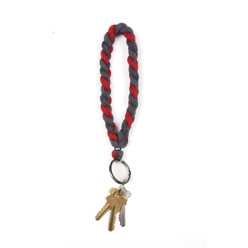 Red Grey Keychain