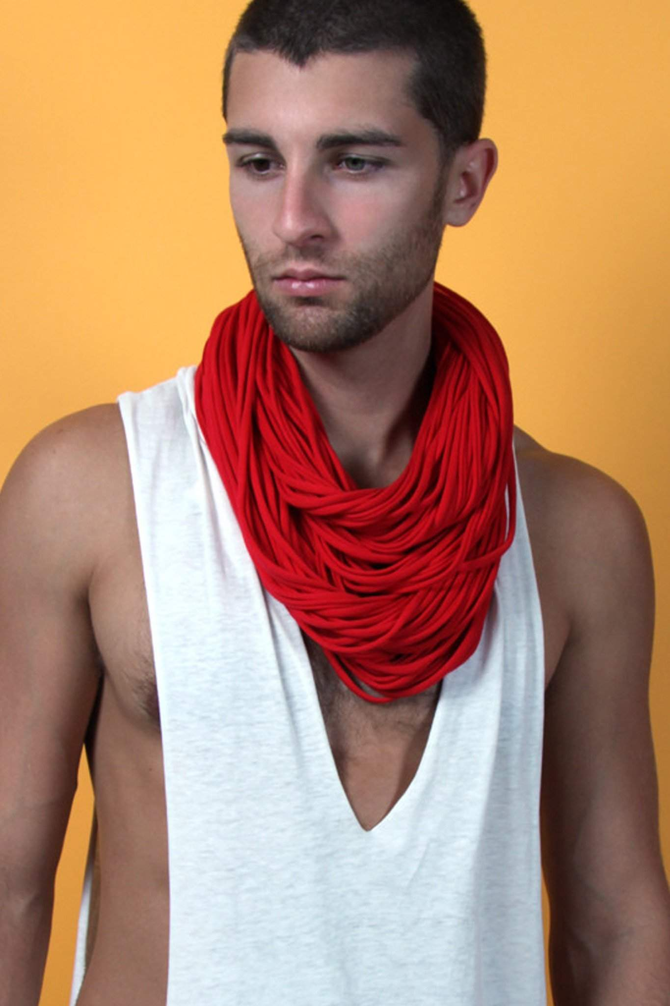 Red Chunky Scarf-scarves-Necklush