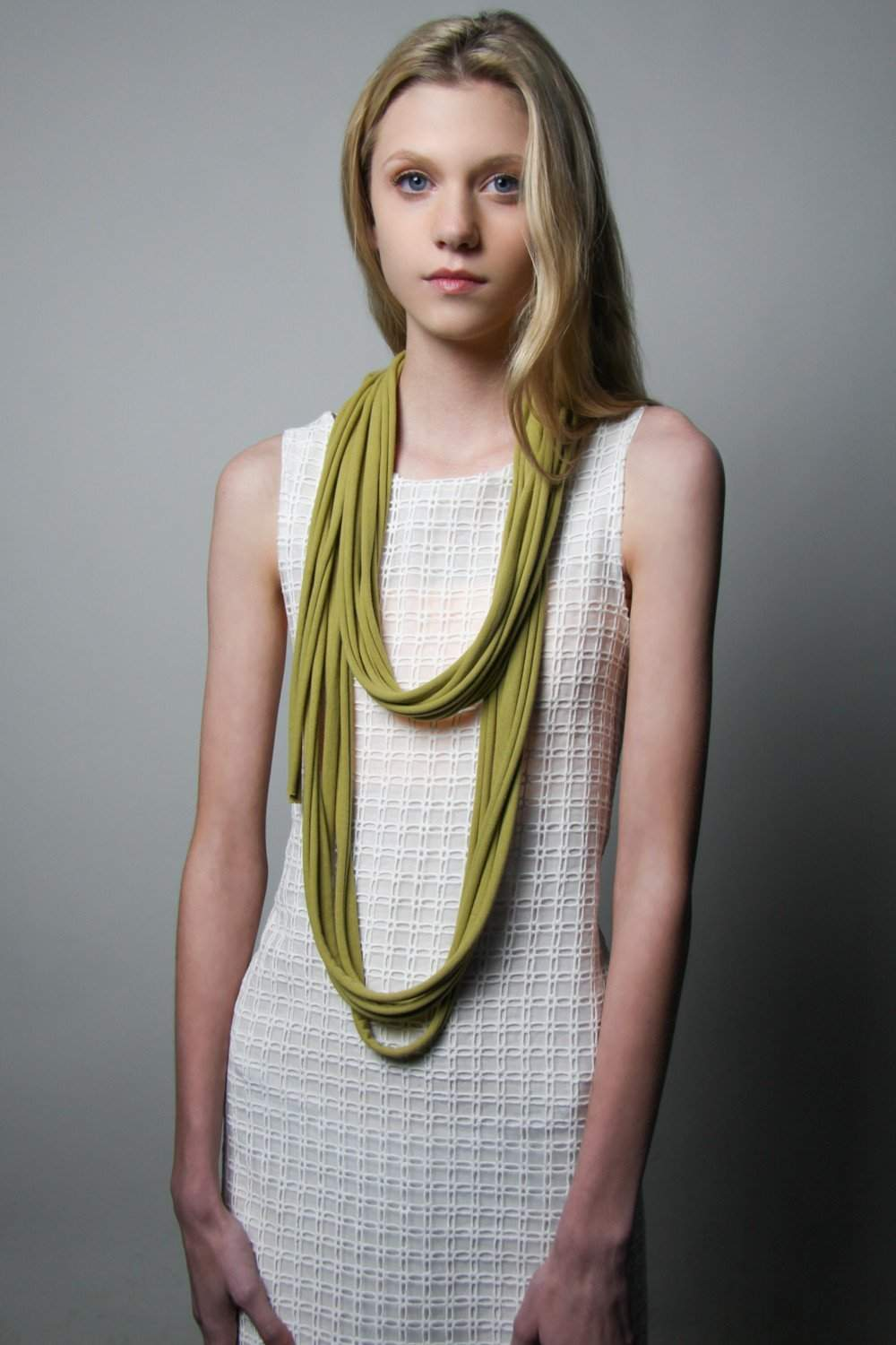 Sage Green Long Scarf-scarves-Necklush