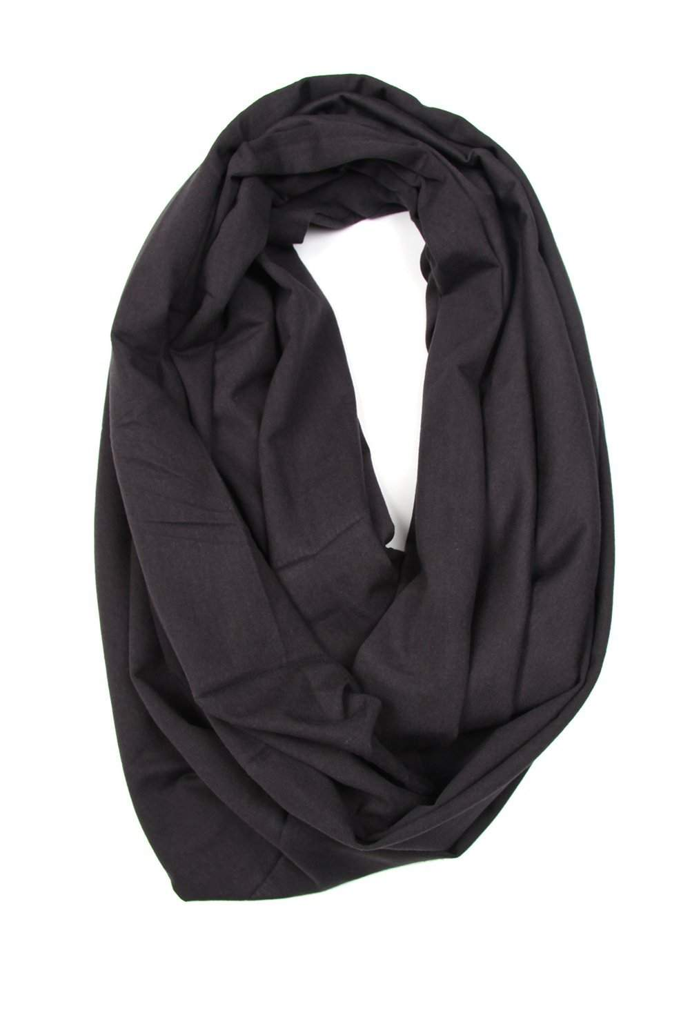 Slate Gray Circle Scarf-scarves-Necklush