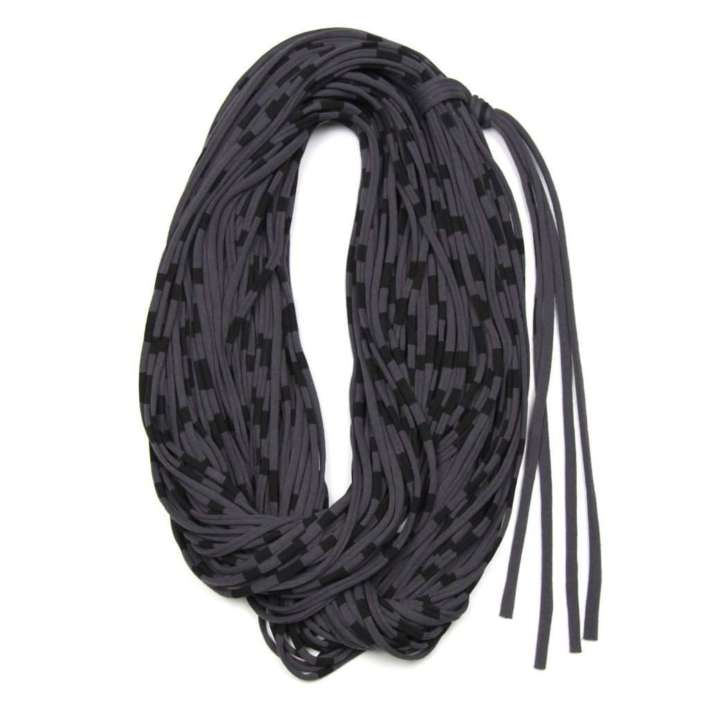 Striped Dark Gray Chunky Scarf-scarves-Necklush