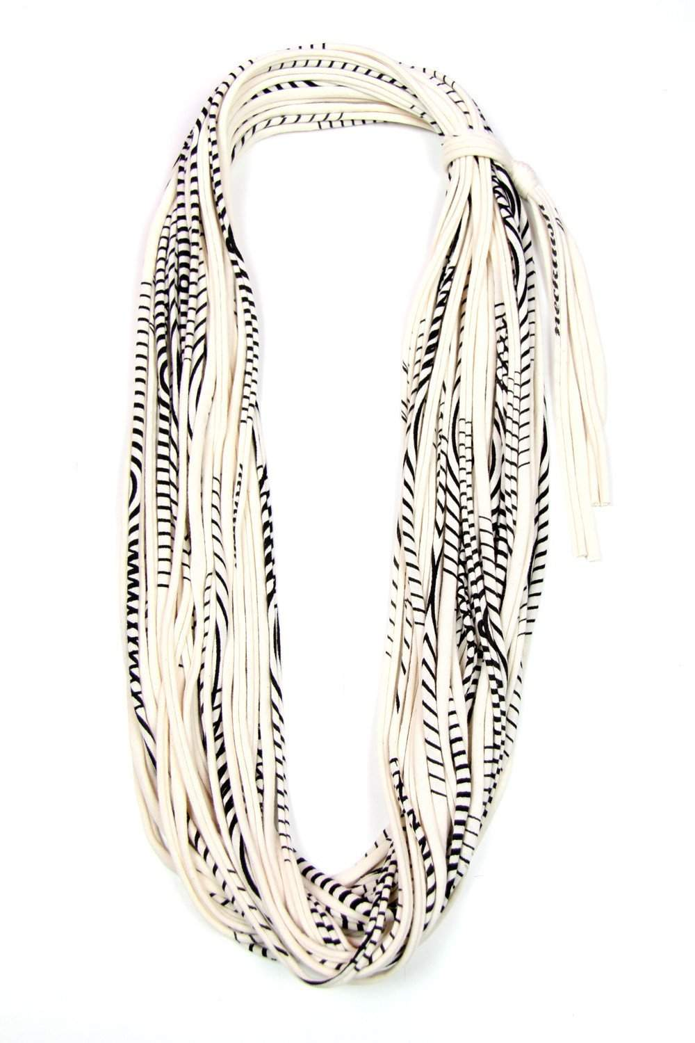 Striped Cowl Scarf-scarves-Necklush