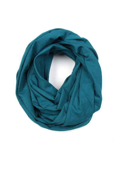 Teal Blue Circle Scarf-scarves-Necklush