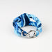 Womens Braided Bracelet - Tie Dye Blue