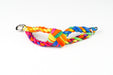 Womens Braided Bracelet - Tie Dye Rainbow
