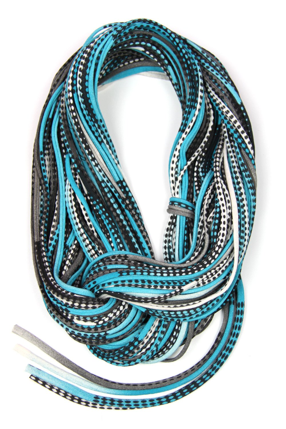 Turquoise Black Chunky Scarf-scarves-Necklush