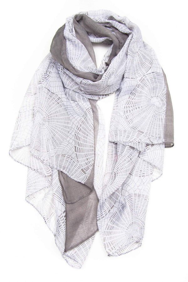 White Grey Scarf