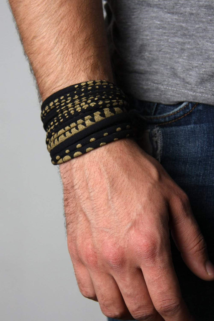 Wrap Bracelet / Black Gold