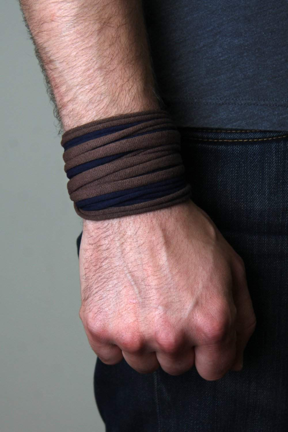 Wrap Bracelet / Brown Navy