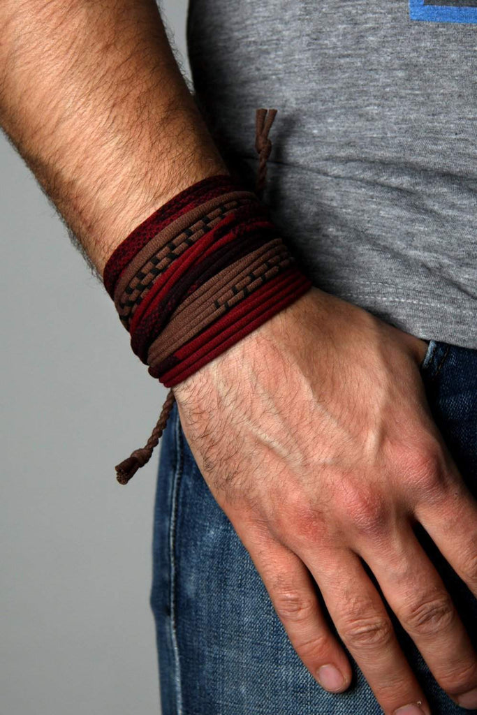 Wrap Bracelet / Maroon Brown