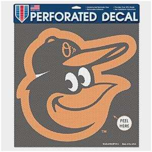"Baltimore Orioles Perforated Car Window Decal 17"" x 17"""