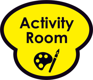 Activity Room Picture Sign