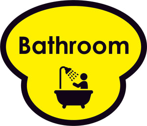 Bathroom Picture Sign