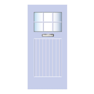 Beach Door Blue