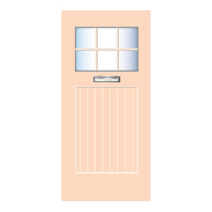 Beach Door Orange