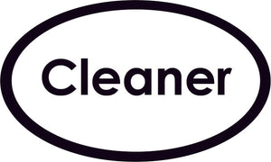 Cleaner Oval Sign