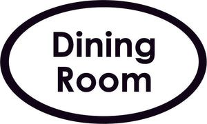 Dining Room Oval Sign
