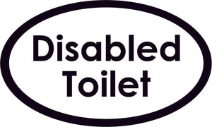 Disabled Toilet Oval Sign