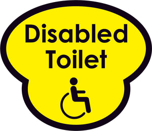 Disabled Toilet Picture Sign