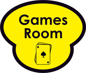 Games Room Picture Sign
